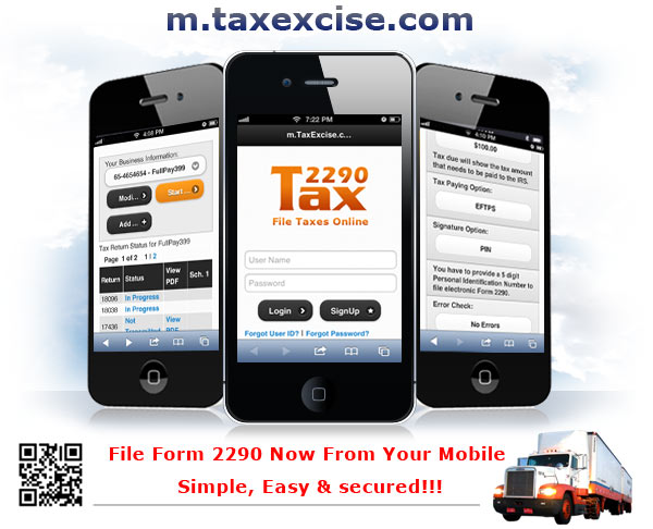 mtax2290com file form 2290 now from your mobile simple easy